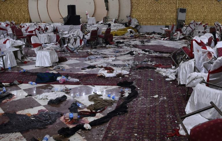 Suicide attacks, like this one on a wedding hall in Kabul, have added to a year of record bloodshed in Kabul