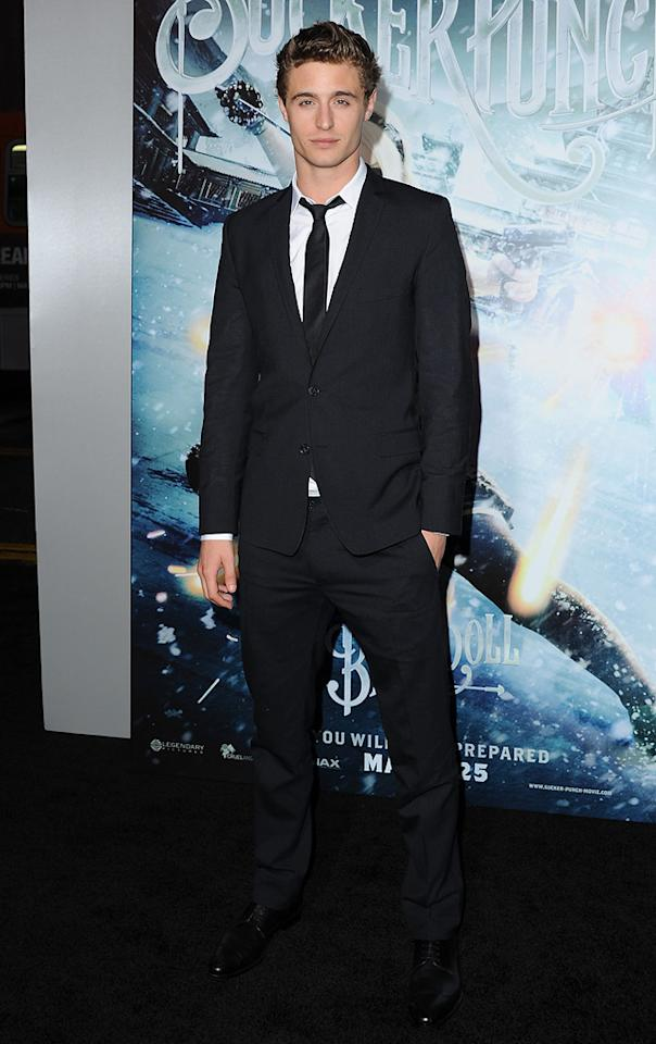 "<a href=""http://movies.yahoo.com/movie/contributor/1809692165"">Max Irons</a> at the Los Angeles premiere of <a href=""http://movies.yahoo.com/movie/1810133258/info"">Sucker Punch</a> on March 23, 2011."