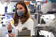 <p>Kate Middleton is seen during a surprise visit to the Institute of Reproductive and Development Biology at Imperial College on Wednesday in London.</p>