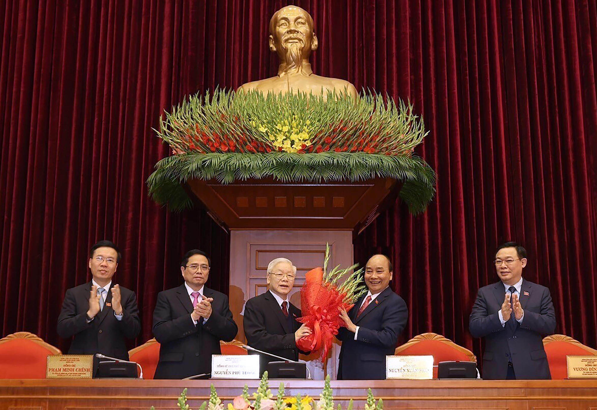 Vietnam's Communist Party reelects chief to lead the nation