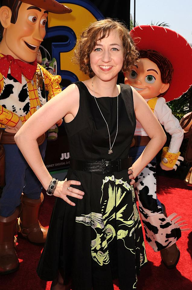 """<a href=""""http://movies.yahoo.com/movie/contributor/1809819112"""">Kristen Schaal</a> at the Los Angeles premiere of <a href=""""http://movies.yahoo.com/movie/1809266566/info"""">Toy Story 3</a> - 06/13/2010"""