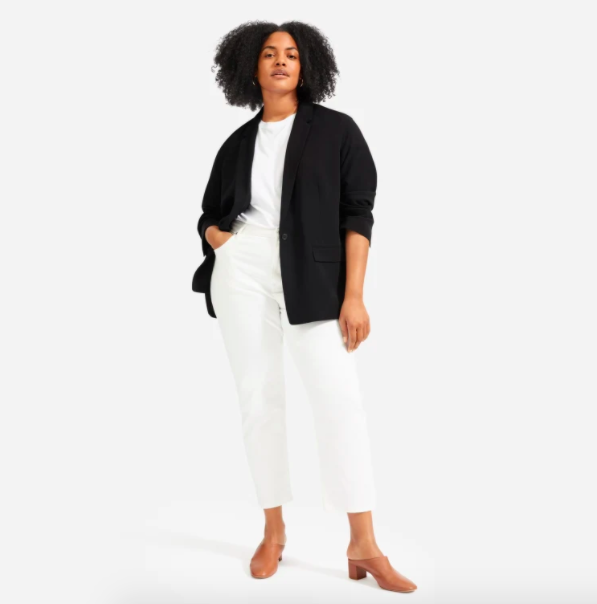 Everlane's new Easy Blazer will add a touch of structure to even your most relaxed clothes.