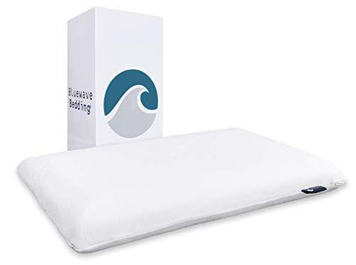 """<p><strong>Bluewave Bedding</strong></p><p>amazon.com</p><p><a href=""""https://www.amazon.com/dp/B06XRH46GH?tag=syn-yahoo-20&ascsubtag=%5Bartid%7C2140.g.36148698%5Bsrc%7Cyahoo-us"""" rel=""""nofollow noopener"""" target=""""_blank"""" data-ylk=""""slk:Shop Now"""" class=""""link rapid-noclick-resp"""">Shop Now</a></p><p>One of the thinnest pillows out there, this is ideal for stomach sleepers who prefer a mostly flat surface. If you want something with a bit more thickness, you'll love trying the <a href=""""https://www.amazon.com/dp/B06XPMNP76?th=1&tag=syn-yahoo-20&ascsubtag=%5Bartid%7C2140.g.36148698%5Bsrc%7Cyahoo-us"""" rel=""""nofollow noopener"""" target=""""_blank"""" data-ylk=""""slk:Full Pillow"""" class=""""link rapid-noclick-resp"""">Full Pillow</a>.</p>"""