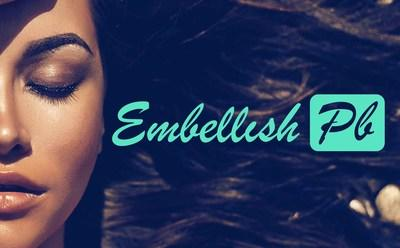 The official logo for the beauty studio, Embellish PB in San Diego, CA. (PRNewsfoto/Embellish PB)