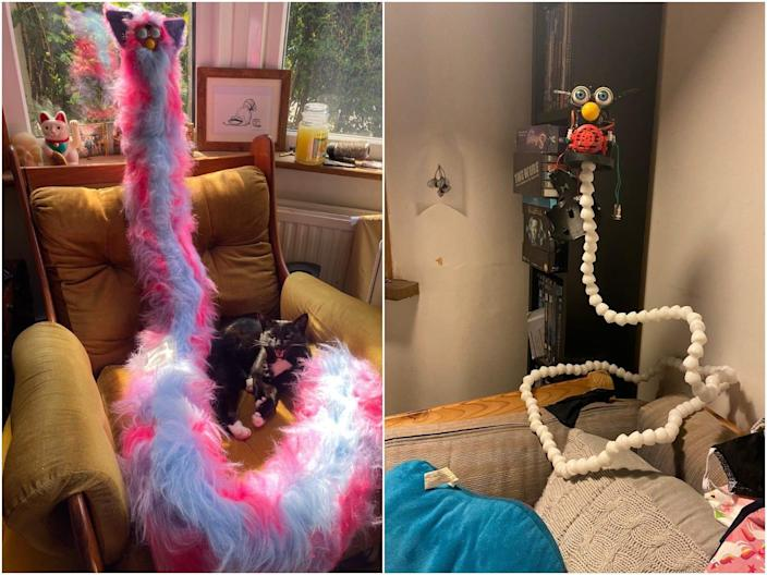 Johnny Chiodini captured his wife's homemade Furby character, which gained a lot of attention on Twitter.