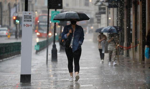 Coronavirus: Going out in the rain? You might want to take a spare face mask