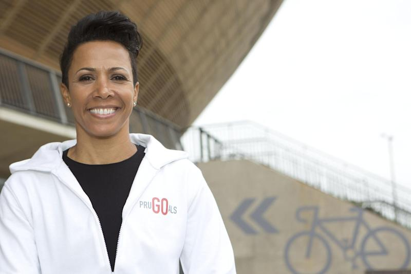 Dame Kelly Holmes is an advocate for PruGoals, that helps disadvantaged students participate in the 46-mile bike ride Prudential Ride London-Surrey 46