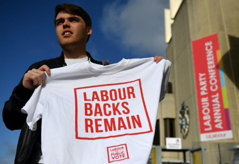 Anti-Brexit Labour members see the party as fundamentally pro-European (AFP Photo/DANIEL LEAL-OLIVAS)