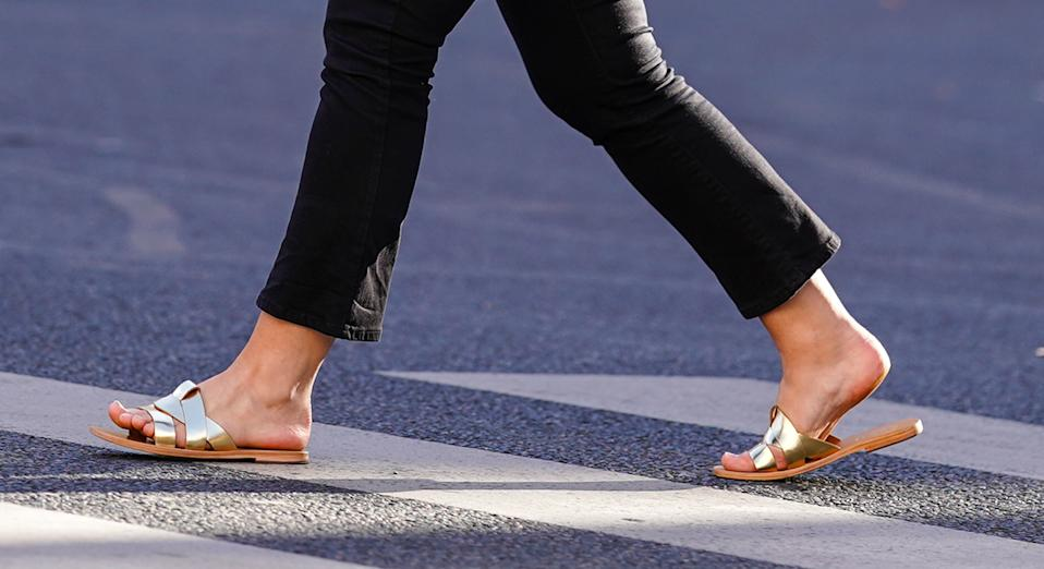 Marks and Spencer's Leather Open Toe Sliders have received flowing reviews from shoppers - and they're on our summer shopping wish list.  (Getty Images)