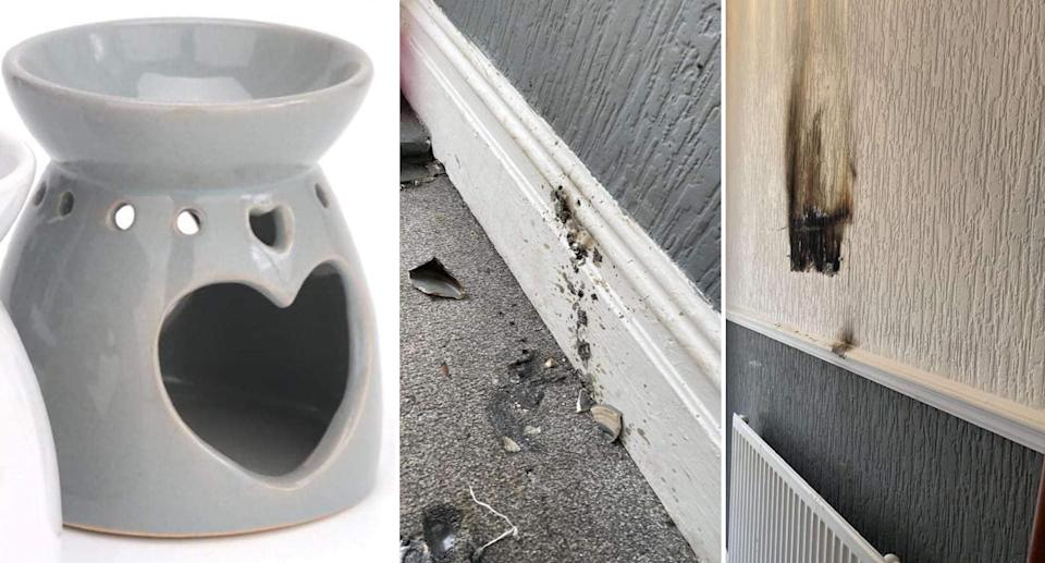 Images of a wax burner that is similar to the one purchased by Shannon Valerie who claimed it exploded in her home
