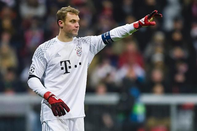 Manuel Neuer will be the fourth goalkeeper to captain Bayern Munich (AFP Photo/GUENTER SCHIFFMANN)