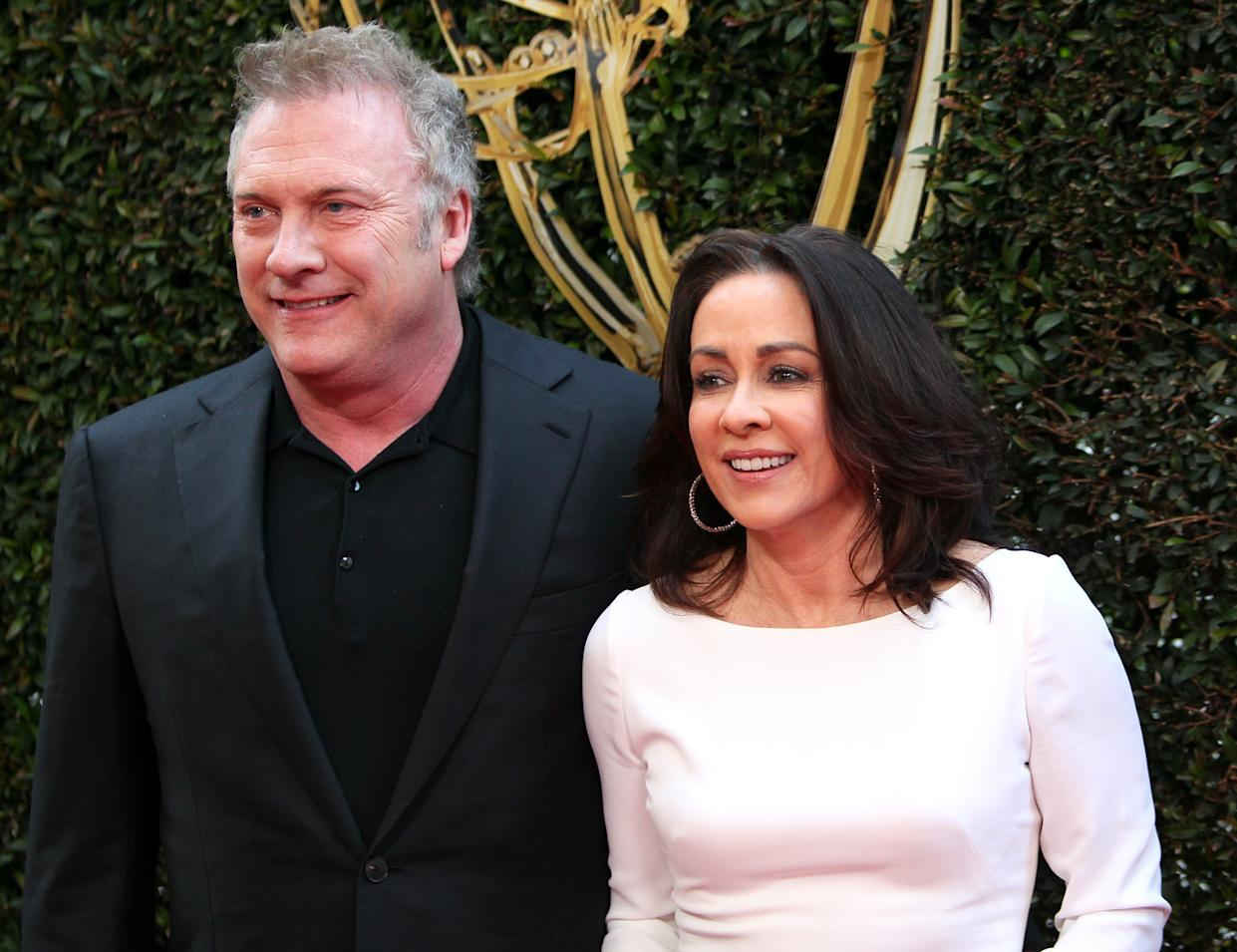 David Hunt, pictured with wife Patricia Heaton in 2016, was accused of inappropriately touching a female writer on the set of Carol's Second Act. (Photo: David Livingston/Getty Images)