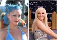 <p>Another coach on <em>The Voice</em>, Gwen is the epitome of ladies who play with makeup without going overboard. But, let's be honest: that wasn't <em>always </em>the case. Back in her <em>No Doubt </em>days, bright blue hair, notice-me eyeshadow, and face bedazzling all played a role in the lead singer's look. But, eventually, she realized that platinum blonde hair and either a nude, pink, or red lip worked best. The star has stuck to that base ever since.</p>