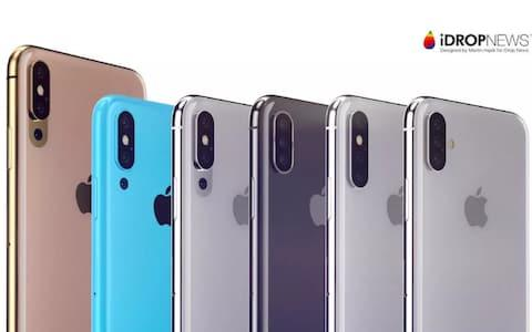 Concept designs of the colours and potential triple camera designs of the new iPhone - Credit: iDrop News