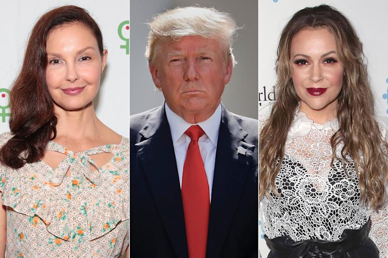 Stars support Women's March rallies as Trump tells women to 'celebrate'