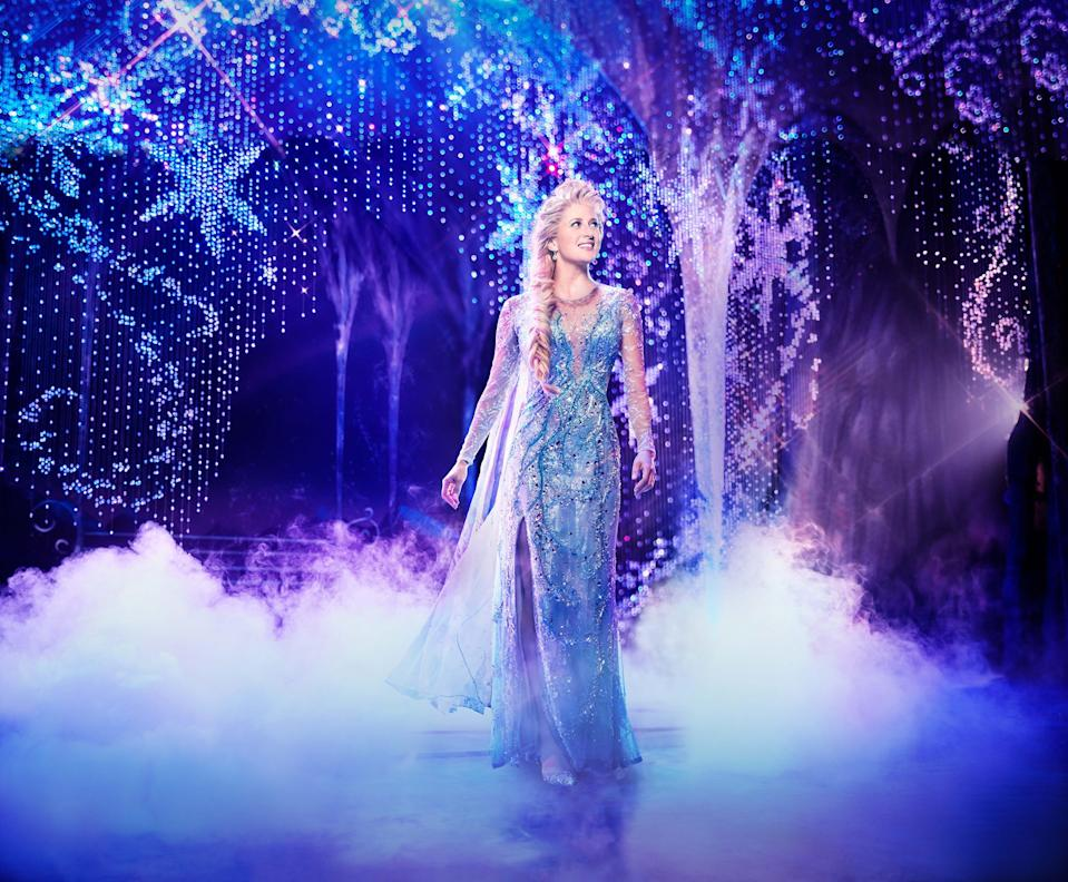 """Caissie Levy as Elsa in """"Frozen"""" on Broadway."""