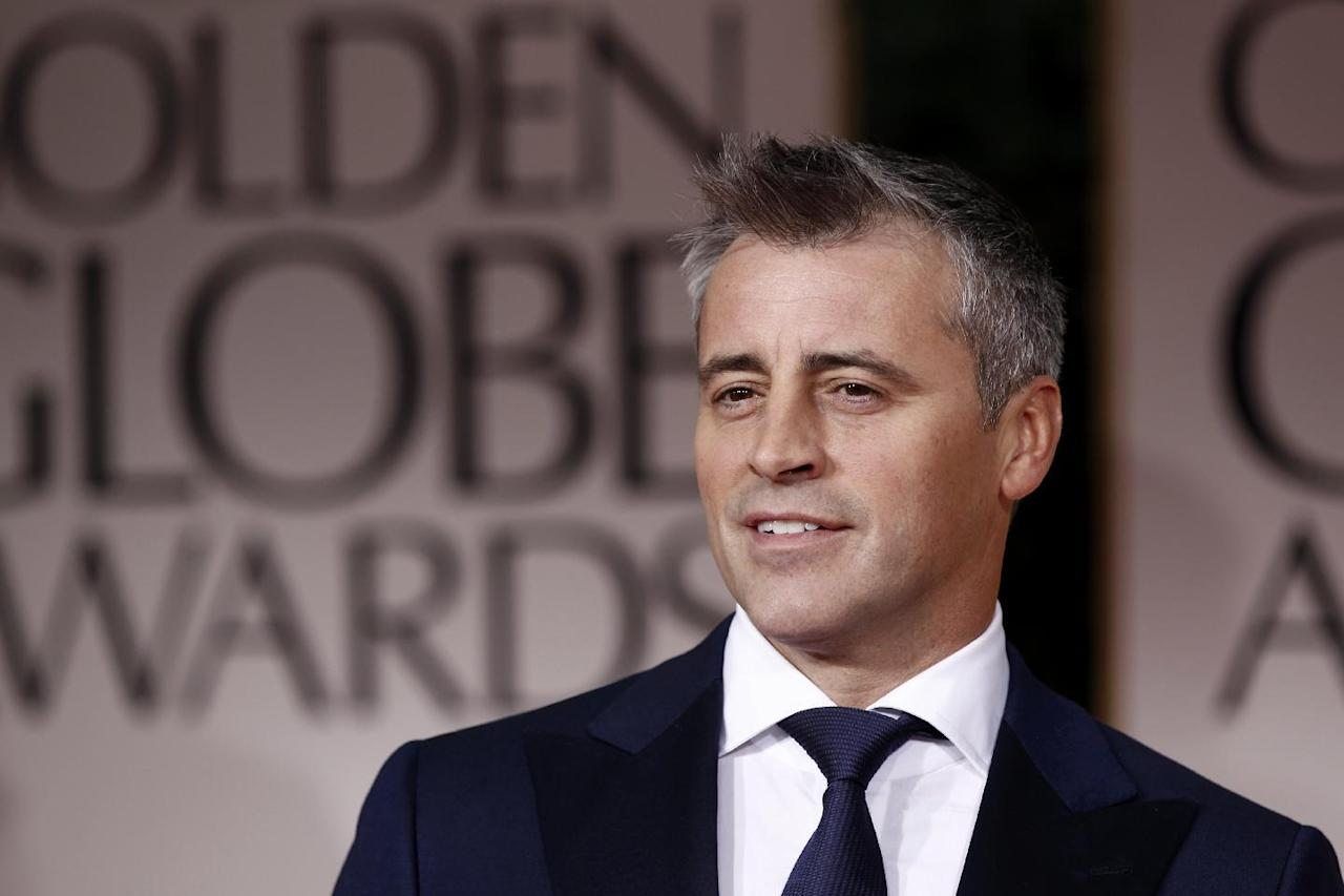 """FILE - This is a Sunday, Jan. 15, 2012 file photo of Matt LeBlanc as he arrives at the 69th Annual Golden Globe Awards in Los Angeles. The BBC says former """"Friends"""" star Matt LeBlanc has signed a two-series deal to host its popular car show """"Top Gear."""" The broadcaster announced Monday that LeBlanc will front the show when it returns for a 24th series in 2017.(AP Photo/Matt Sayles, File)"""