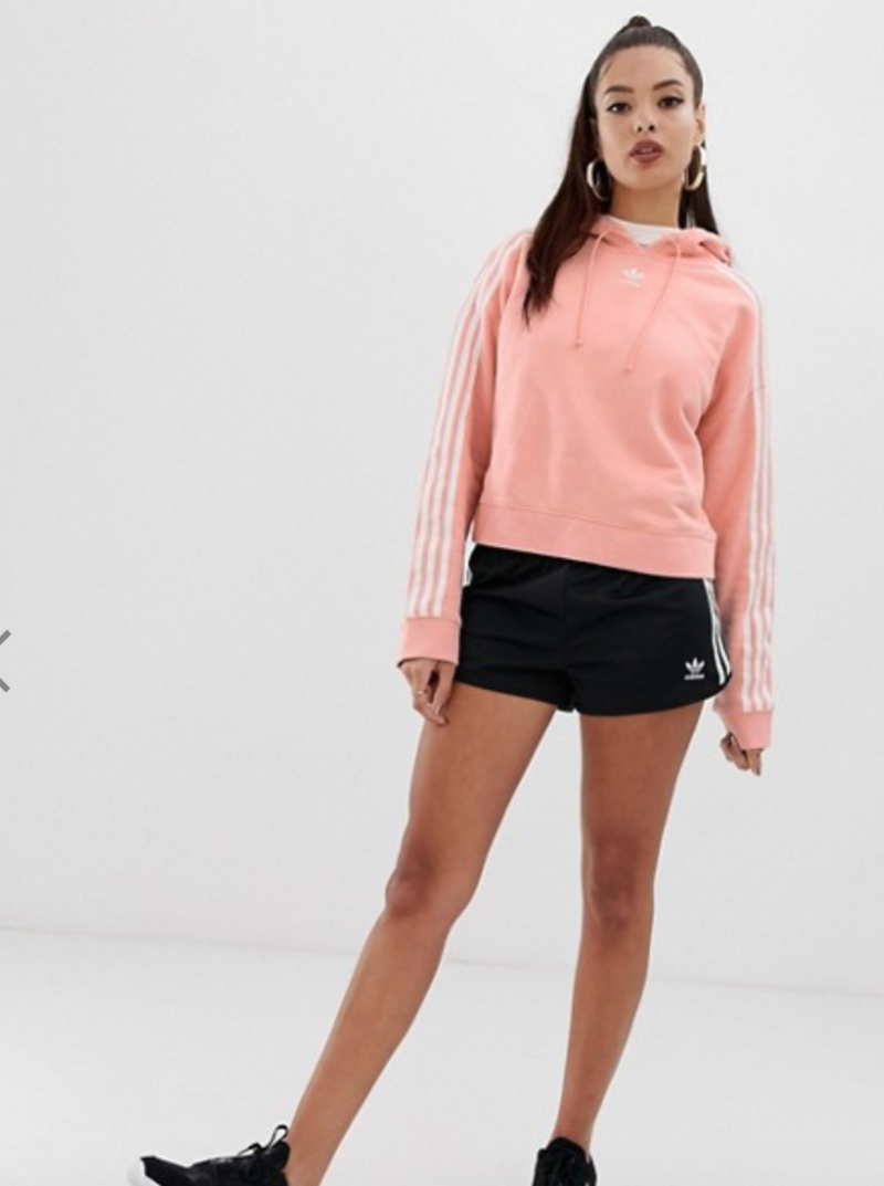 adidas Originals adicolor cropped hoodie