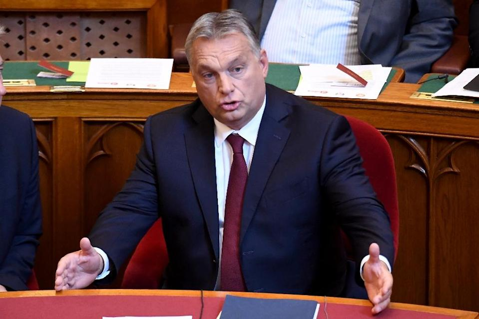 """Hungarian Prime Minister Viktor Orban said a plan to bolster the EU's borders would """"strip Hungary of its right to protect its own borders"""" (AFP Photo/ATTILA KISBENEDEK)"""
