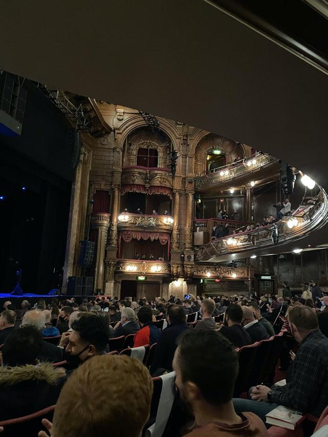 The audience at the London Palladium for an event to promote Arsene Wenger's book