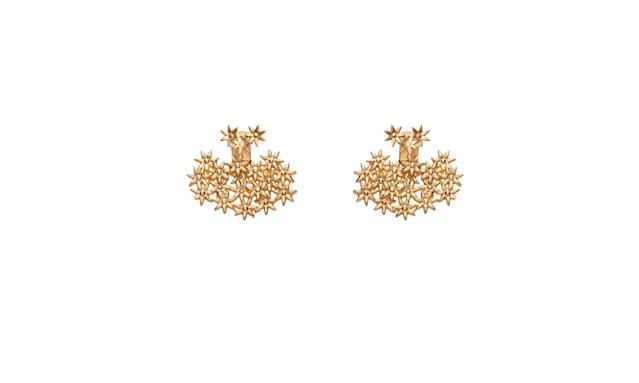 "<p>Flower earring back small, $150, <a href=""https://auratenewyork.com/products/flower-earring-back-small"" rel=""nofollow noopener"" target=""_blank"" data-ylk=""slk:auratenewyork.com"" class=""link rapid-noclick-resp"">auratenewyork.com</a> </p>"