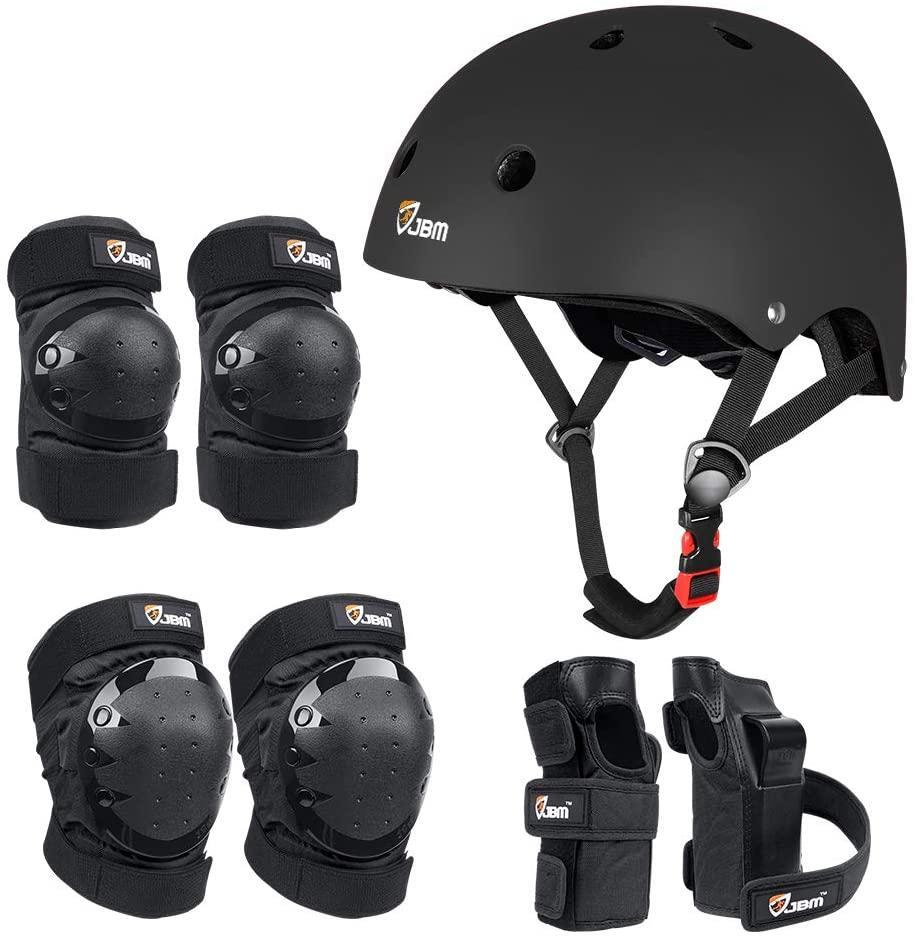 JBM Skateboarding Protection Gear with helmet, elbow pads, knee pads and wrist guards