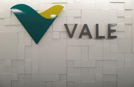 The logo of Vale SA is pictured in Rio de Janeiro