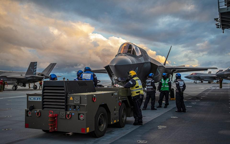 F-35 jets are participating in the exercise. - LPhot Belinda Alker/MOD Crown Copyright, 2020