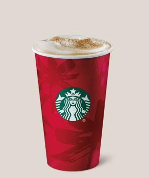A Christmas classic, this taste of the States has 33.8g of sugar (Starbucks)