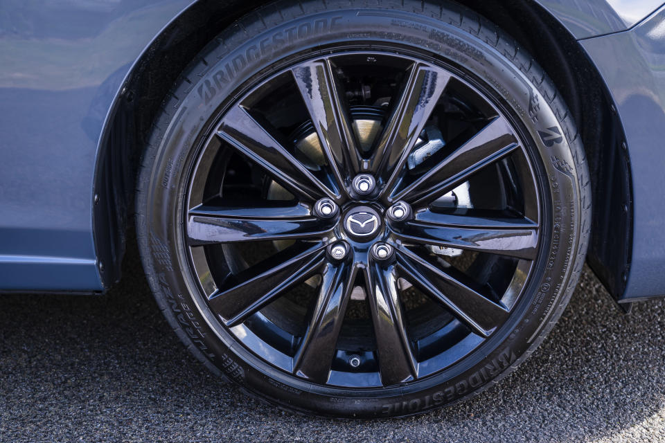 Large 19-inch alloy wheels come on the Kuro Edition