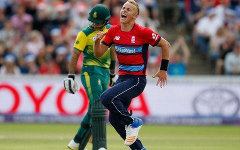 Tom Curran celebrating a wicket - Credit: PA