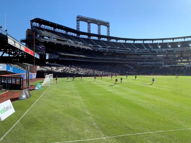 Tipperary compete against Kilkenny at the New York Hurling Classic at Citi Field in Queens