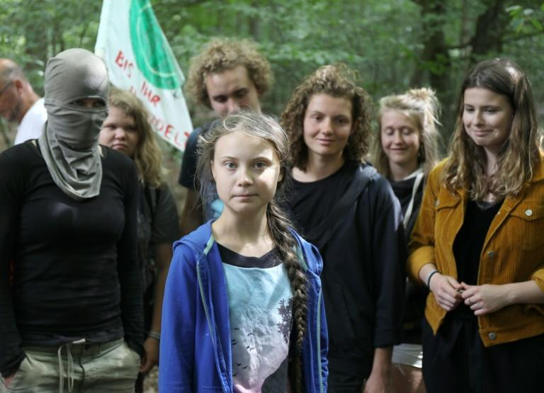 Climate campaigners inspired by Swedish militant Greta Thunberg plan to stage major protests at the Frankfurt auto show this year (AFP Photo/Oliver Berg)