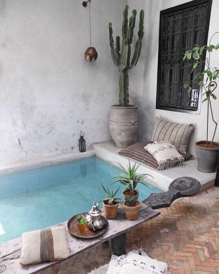<p>Name a greater place to rest after a day spent hustling in the local souks. This relaxing spot in Marrkech is going straight on our wanderlust list this year. <em>[Photo: Airbnb]</em> </p>