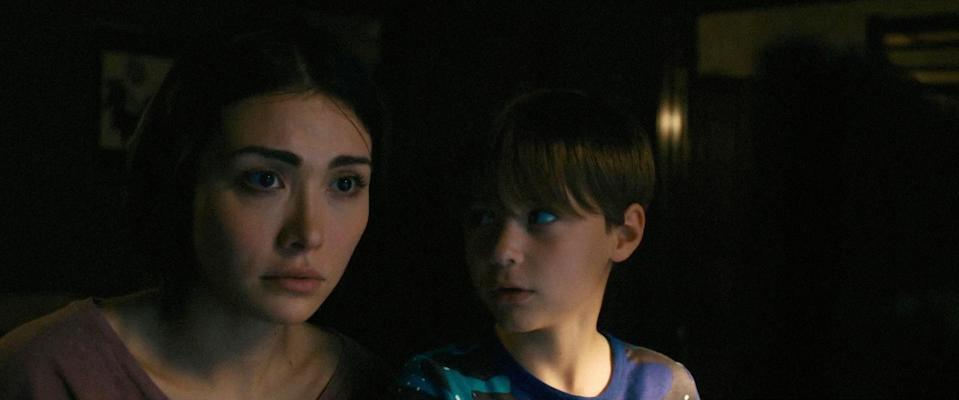 """<p>Daniella Pineda plays a woman re-entering the world after 15 years in a psychiatric institution, where she was placed as a teenager after stabbing one of her classmates because of belief in an urban legend called Mercy Black. She goes to live with her sister and her nephew, who also becomes obsessed with the story of the ghost. Yikes. </p> <p><a href=""""https://www.netflix.com/title/81038545"""" rel=""""nofollow noopener"""" target=""""_blank"""" data-ylk=""""slk:Available on Netflix"""" class=""""link rapid-noclick-resp""""><em>Available on Netflix</em></a> </p>"""