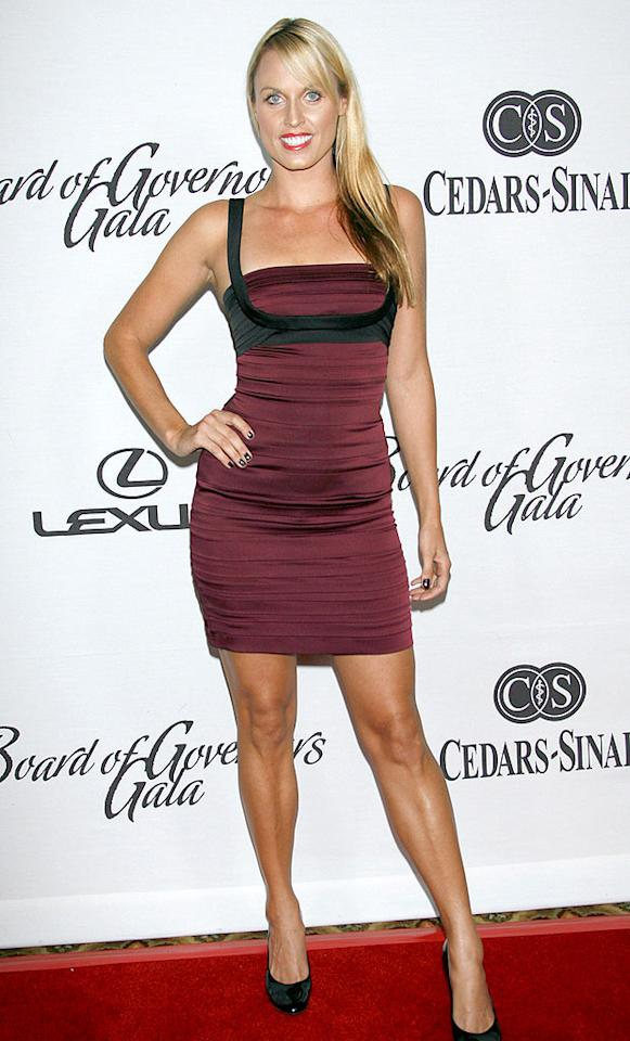 "Olympian Amanda Beard showed off her swimmers bod in a sleek strapped mini. Michael Bezjian/<a href=""http://www.wireimage.com"" target=""new"">WireImage.com</a> - December 2, 2008"
