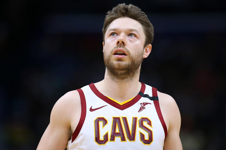 NEW ORLEANS, LOUISIANA - FEBRUARY 28: Matthew Dellavedova #18 of the Cleveland Cavaliers reacts against the New Orleans Pelicans during the second half at the Smoothie King Center on February 28, 2020 in New Orleans, Louisiana. NOTE TO USER: User expressly acknowledges and agrees that, by downloading and or using this Photograph, user is consenting to the terms and conditions of the Getty Images License Agreement.  (Photo by Jonathan Bachman/Getty Images)