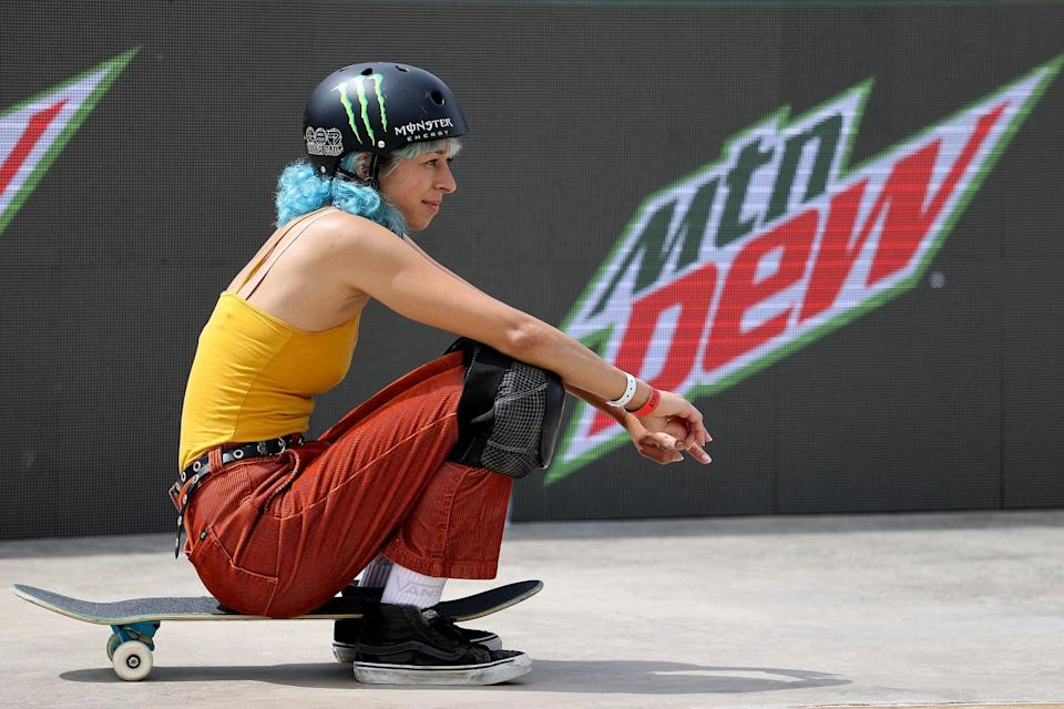 DES MOINES, IOWA - MAY 21:  Lizzie Armanto of Finland looks on during the Women's Park Semifinal at the Dew Tour on May 21, 2021 in Des Moines, Iowa. (Photo by Sean M. Haffey/Getty Images)