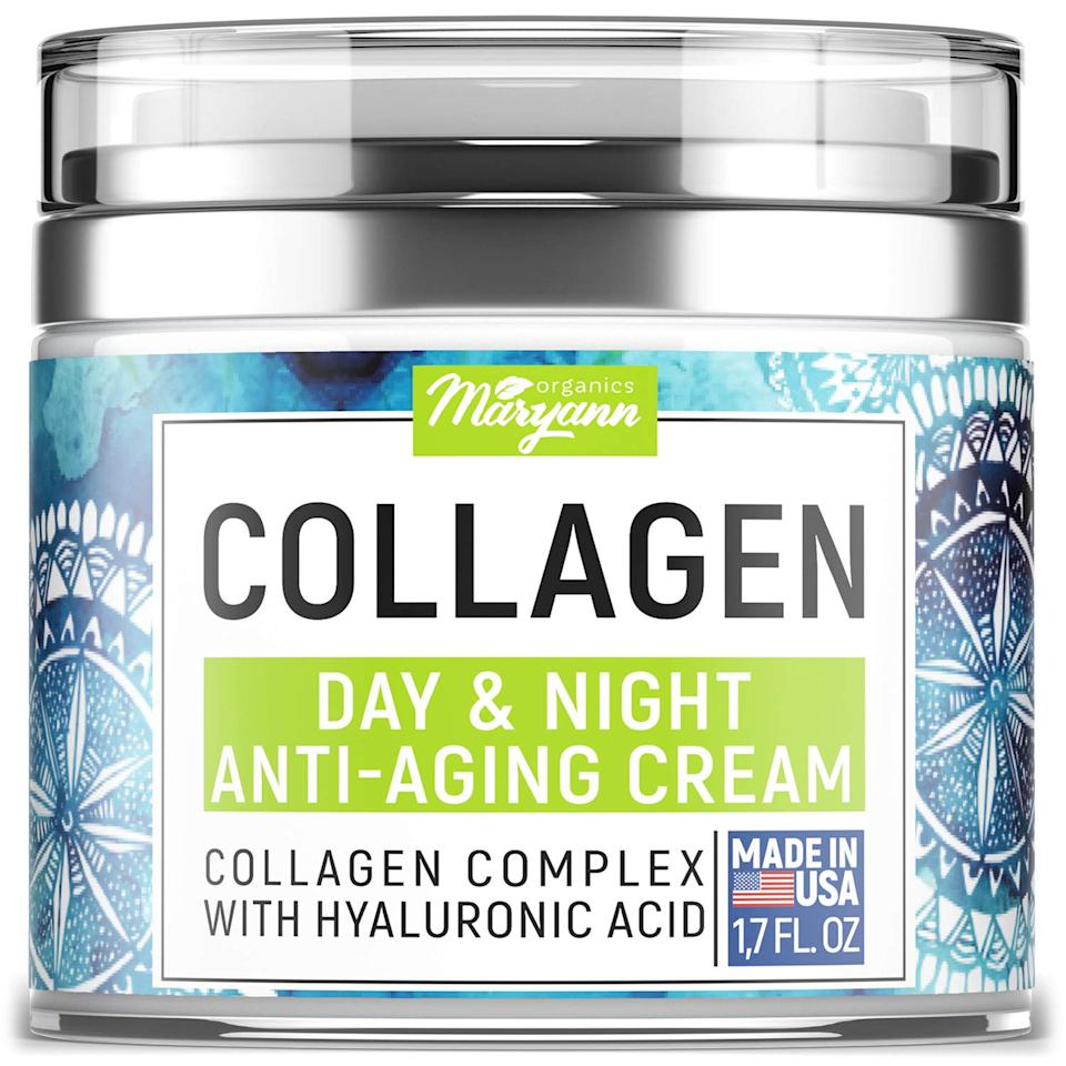"<h3>Maryann's Organics Collagen Cream<br></h3><br>We stopped in our tracks when we saw the near-perfect rating for this collagen cream with over 5,000 reviews. (Its star is clearly rising, with a 40% gain in sales over 24 hours.) With hyaluronic acid and vitamin C, the moisturizer gets to work. ""I saw results the very first time that I tried it. It has taken away my starting crow's feet from years of welding,"" proclaimed review Liz Rodriguez on Amazon. ""This is an amazing product. People around me are ordering it."" And how!<br><br><em>*August 2020 Mover and Shaker</em><br><br><strong>Maryann Organics</strong> Collagen Cream, $, available at <a href=""https://www.amazon.com/MARYANN-Organics-Collagen-Cream-Moisturizer/dp/B0822MFX8L/ref=cm_cr_arp_d_product_top"" rel=""nofollow noopener"" target=""_blank"" data-ylk=""slk:Amazon"" class=""link rapid-noclick-resp"">Amazon</a>"