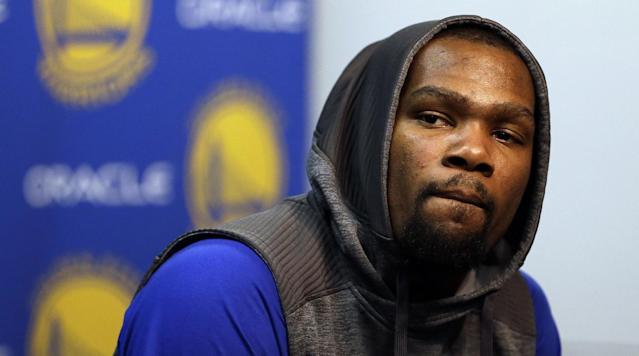 """Warriors forward Kevin Durant """"has not experienced any setbacks"""" in his recovery from a knee injury, the team announced Wednesday."""
