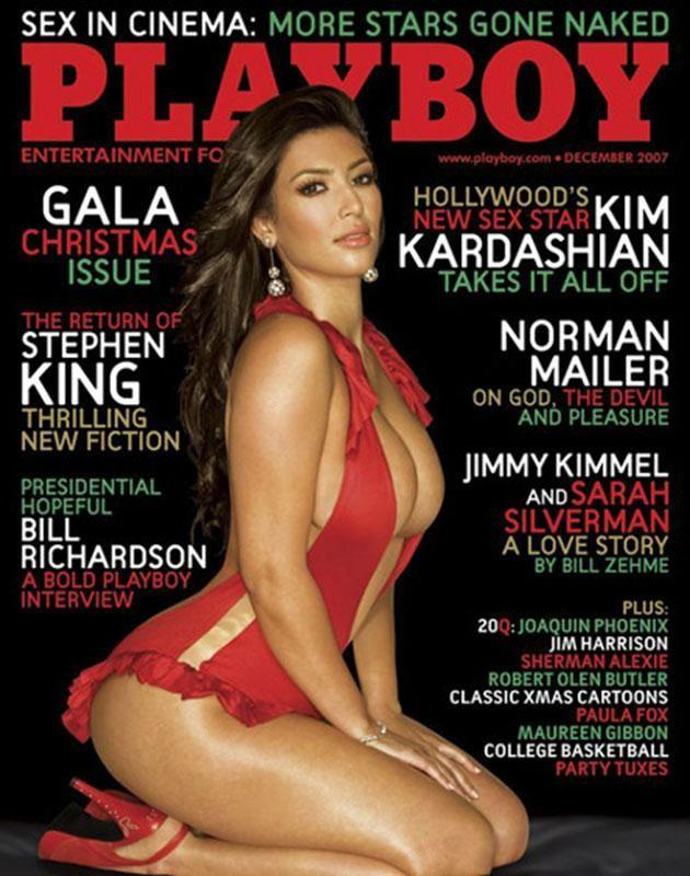 Kim on the cover of Playboy in 2007.