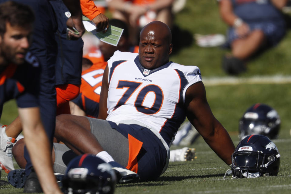 The NFL made an example of Ja'Wuan James — and took a victory lap against the NFLPA. (AP Photo/David Zalubowski)
