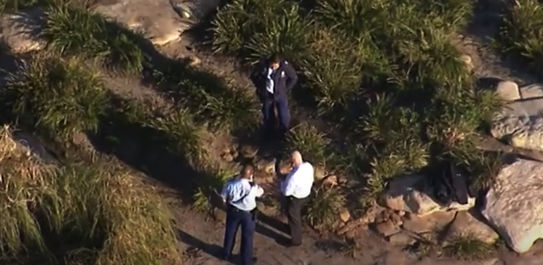 Police at the scene of the incident. Source: ABC