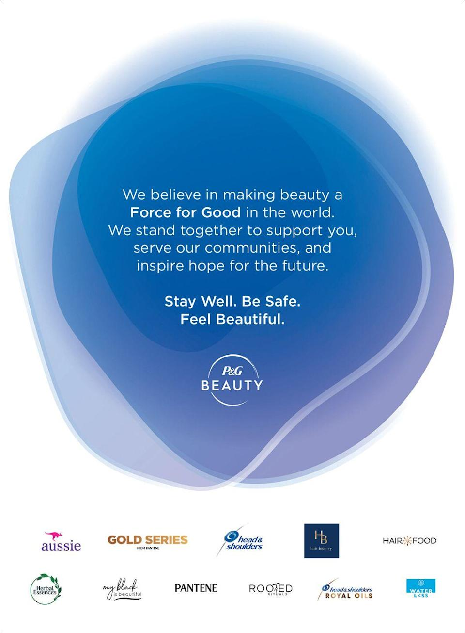<p>We believe in making beauty a Force For Good in the world. We stand together to support you, serve our communities, and inspire hope for the future. </p><p>Stay well. Be safe. Feel beautiful. </p>