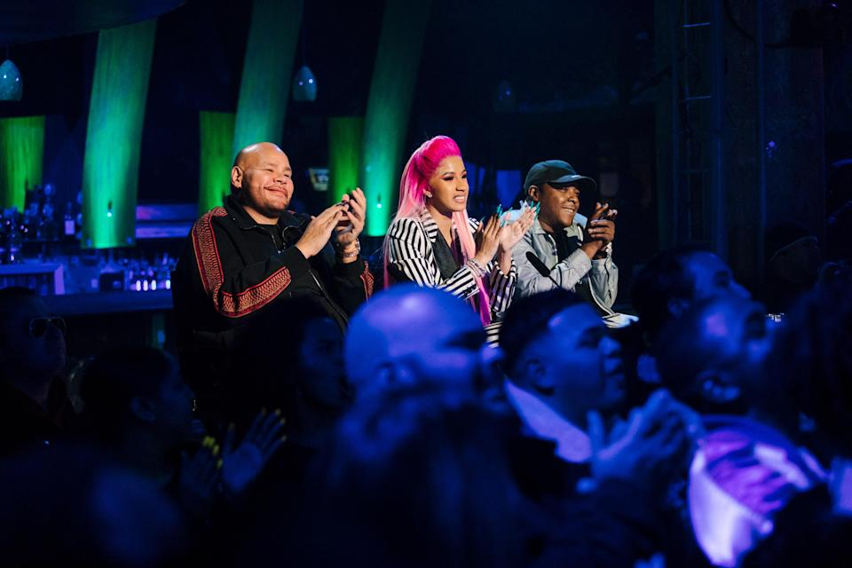 """<p>Netflix is finally getting into the competition show game with <em>Rhythm + Flow.</em> Watch as Cardi B, Fat Joe, and T.I. try to find the next big hip-hop star over the course of 10 episodes. The winner gets a $250,000 prize—and the ultimate brag that they met Cardi B. </p> <p><a href=""""https://www.netflix.com/title/80216665"""" rel=""""nofollow noopener"""" target=""""_blank"""" data-ylk=""""slk:Available to stream on Netflix"""" class=""""link rapid-noclick-resp""""><em>Available to stream on Netflix</em></a></p>"""