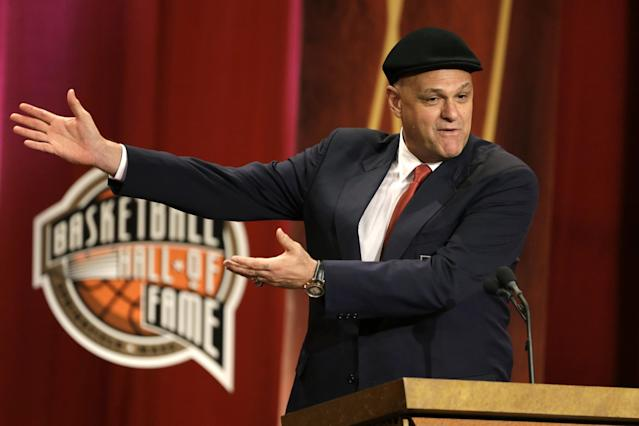 Oscar Schmidt was inducted into the Basketball Hall of Fame in 2013. (AP)