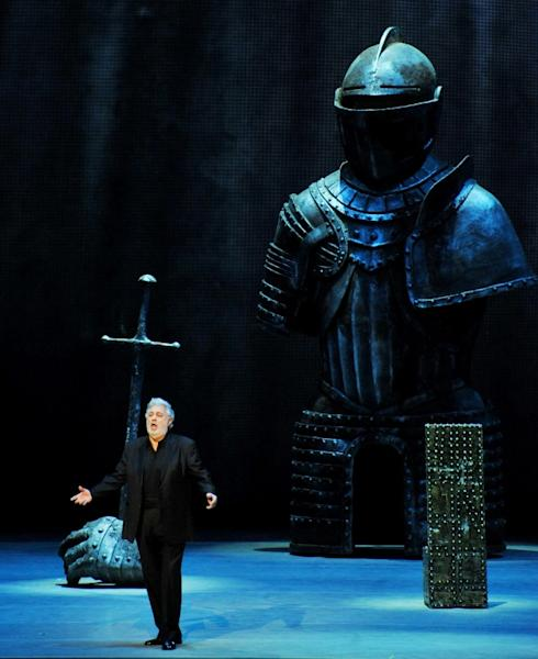 Placido Domingo, seen here performing in St Petersburg in 2013, was one of the best-known tenors of the 20th century before transforming himself into a baritone (AFP Photo/OLGA MALTSEVA)