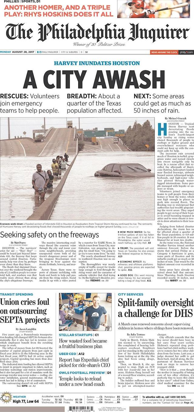 <p>The Philadelphia Inquirer<br> Published in Philadelphia, Pa. USA. (newseum.org) </p>