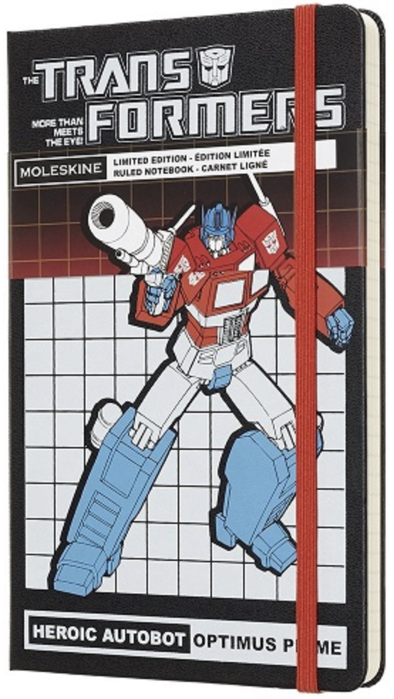 Moleskine X Transformers Optimus Prime, limited edition large ruled notebook
