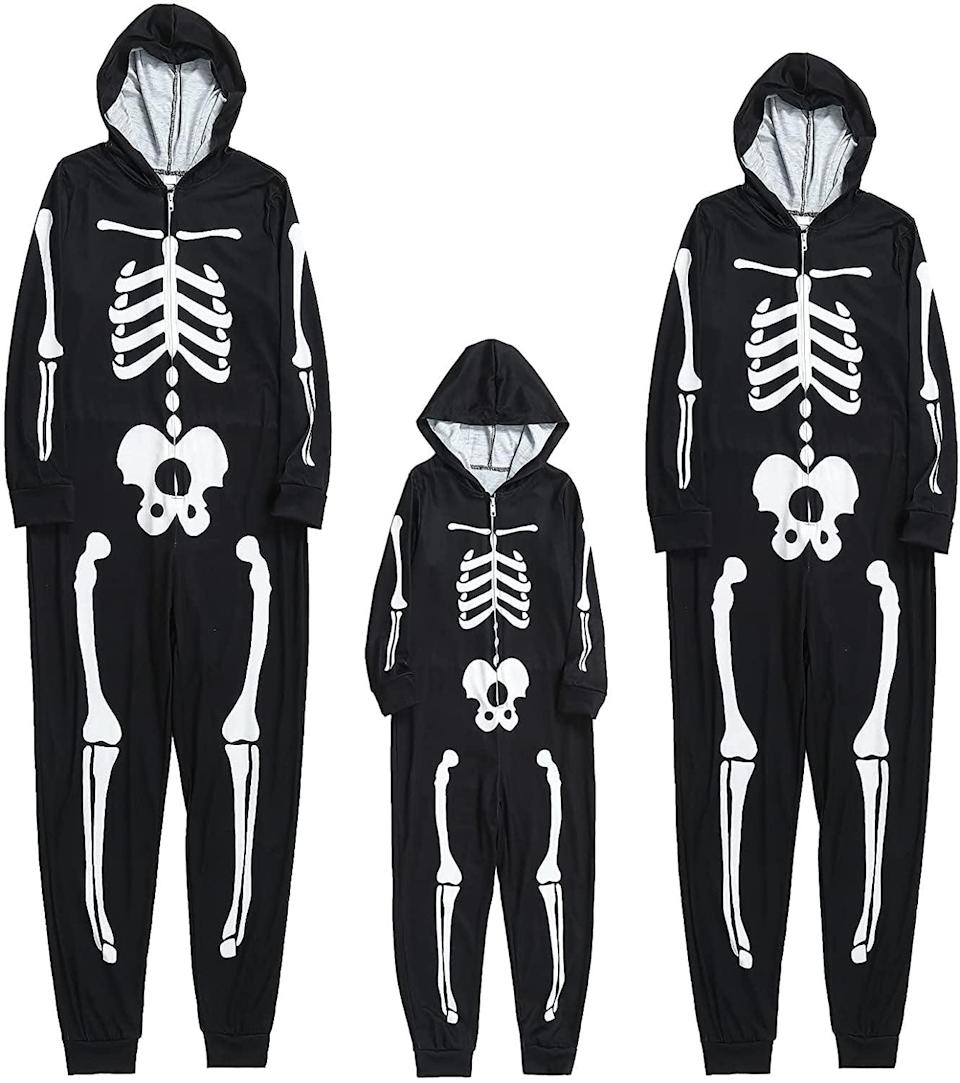 <p>If you and your family love onesies, you can't pass up on this one. It comes in a <span>Child Suit</span> ($19) a <span>Men's Suit</span> ($21), and a <span>Women's Suit</span> ($21). Just imagine the adorable Instagram-worthy pictures with these on for the spooky season.</p>